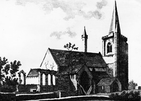 Cathedral old print