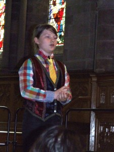 Arran Murray playing the part of Simon Peter