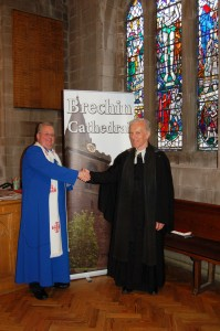 Rev. Dr. Roderick Grahame welcomes Rev. Dr. Robin Mackenzie